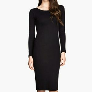 H&M Ribbed Knit Bodycon Basic Dress Med